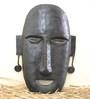 Chinhhari Arts Black Wrought Iron Buddha Mask
