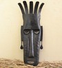 Chinhhari Arts Black Wrought Iron Black Tribal Mask