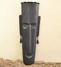 Chinhhari Arts Black Wrought Iron Tribal Mask