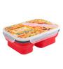 Chumbak Lick Smacking Multicolour Silicone & BPA Free Polypropylene 600 ML Lunch Box