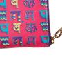 Chumbak Hindi Alphabets Print Tech Polyurethane Pink Wallet