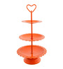 Chumbak Three Tired Orange Cast Iron Cake Stand