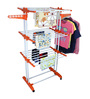 Cipla Plast Prince Jumbo PPCP & Coated Mild Steel White & Orange Cloth Dryer Stand