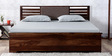 Clancy King Bed with Hydraulic Storage in Provincial Teak Finish by Woodsworth
