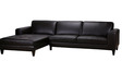 Clarke Gold RHS Sectional Sofa in Black Colour by Furny