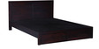 Clio Queen Size Bed In Passion Mahogany Finish By Woodsworth