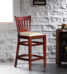 Claire Bar Chair in Honey Oak Finish by Amberville