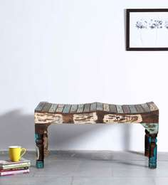 Clapton Bench In Distress Finish By Bohemiana