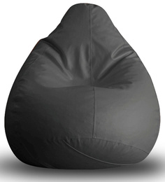 Classic Bean Bag XL Size In Grey Colour With Beans By Style Homez