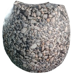 Pebbles Theme Bean Bag Cover in Multi Colour by Orka