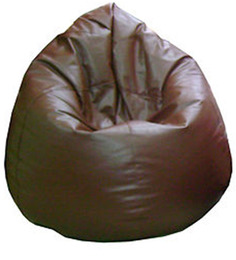 Classic Style Bean Bag (with Beans) in Brown Colour by Sattva