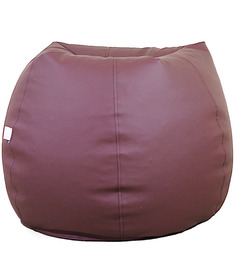 Classic Style Filled Bean Bag In Brown Colour By Orka