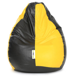 Classic XL Bean Bag Cover without Beans in Yellow & Black Colour by Can