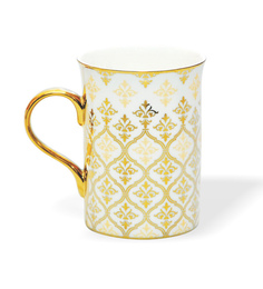 Clay Craft Lantana Bone China 295 ML Mug - Set of 2