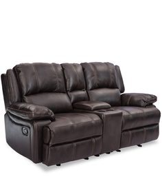 Club Two Seater Recliner in Brown Colour by Durian