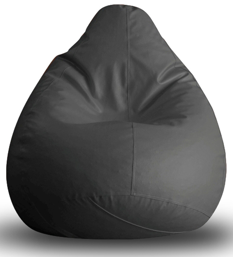 Classic Bean Bag XL size in Grey Colour with Beans by Style Homez  available at Pepperfry for Rs.1359