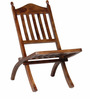Keble Folding Chair in Provincial Teak Finish by Amberville