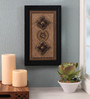 Clasicraft Black Beads on Raw Silk 8.5 x 0.5 x 13.5 Inch Exquisite Framed Wall Art