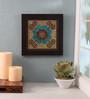 Clasicraft Blue Beads on Canvas Board 11 x 0.5 x 11 Inch Flower Framed Wall Art