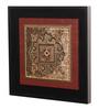 Clasicraft Brown Beads on Raw Silk 13.8 x 1 x 13.8 Inch Motif Framed Wall Art