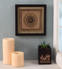 Clasicraft Gold Beads on Raw Silk 11 x 0.5 x 11 Inch Exquisite Framed Wall Art