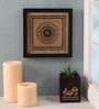 Clasicraft Gold Beads on Raw Silk 8 x 0.5 x 8 Inch Exquisite Framed Wall Art