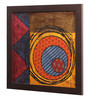 Clasicraft Multicolour Fabric & Canvas 16 x 0.5 x 16 Inch Framed Wall Art Painting