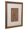 ClasiCraft Multicolour Silk & MDF Paisley Wall Art