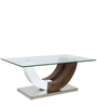 Class Duco & Veneer Finish Center Table with Glass Top  by Parin