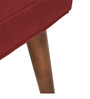 Classic Chair with Button Tufted Back Seat in Red Colour by AfyDecor
