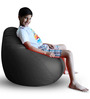 Classic Bean Bag (Cover Only) XL size in Grey Colour  by Style Homez