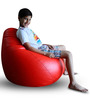 Classic Bean Bag (Cover Only) XL size in Red Colour  by Style Homez