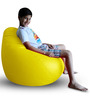 Classic Bean Bag (Cover Only) XL size in Yellow Colour  by Style Homez
