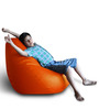 Classic Bean Bag (Cover Only) XXL size in Orange Colour  by Style Homez