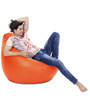 Classic Bean Bag (Cover Only) XXXL size in Orange Colour  by Style Homez