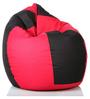 Classic Bean Bag Cover without Beans in Black and Pink Colour by Sattva