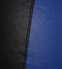Classic Bean Bag Cover without Beans in Black and Royal Blue Colour by Sattva