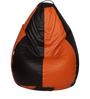 Classic Bean Bag Cover without Beans in Brown and Orange Colour by Sattva