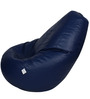 Classic Bean Bag Cover without Beans in Navy Blue Colour by Sattva