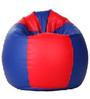 Classic Bean Bag Cover without Beans in Red and Royal Blue Colour by Sattva