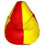 Classic Bean Bag Cover without Beans in Red and Yellow Colour by Sattva