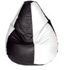 Classic Bean Bag with Beans in Black and White Colour by Sattva