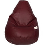 Classic Bean Bag with Beans in Maroon Colour by Sattva