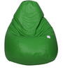 Classic Bean Bag with Beans in Neon Green Colour by Sattva