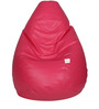 Classic Bean Bag with Beans in Pink Colour by Sattva