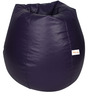 Classic Bean Bag with Beans in Purple Colour by Sattva