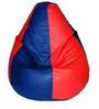 Classic Bean Bag with Beans in Red and Royal Blue Colour by Sattva