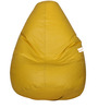 Classic Bean Bag with Beans in Yellow Colour by Sattva