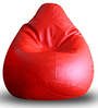 Classic Bean Bag XL size in Red Colour with Beans by Style Homez
