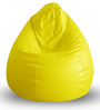Classic Bean Bag XXL size in Yellow Colour with Beans by Style Homez